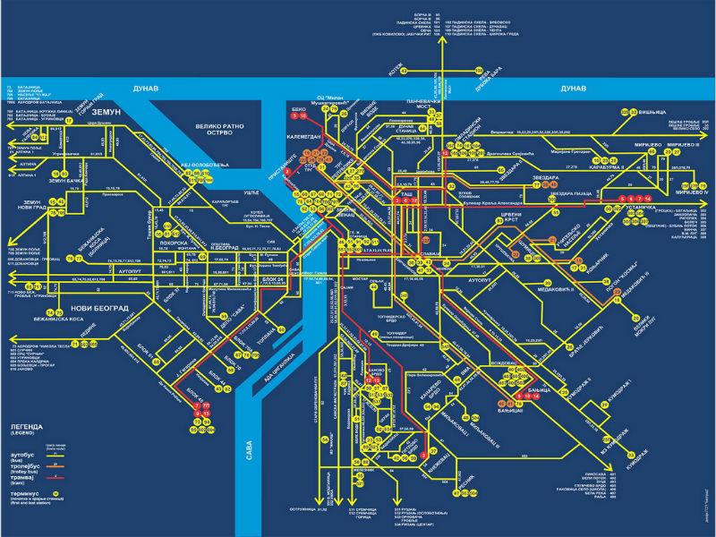 mapa beograda autobuske linije 10 najdužih linija u Beogradu – 10naj mapa beograda autobuske linije