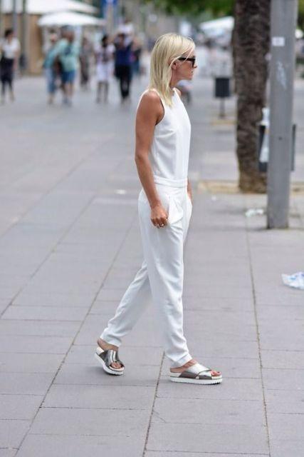 srebrne papuče