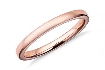 rose gold prsten