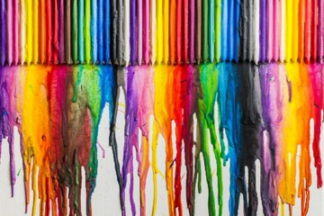 25888473 - melted crayons colorful abstract  painted background on canvas